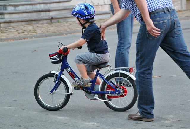 učení jezdit na kole