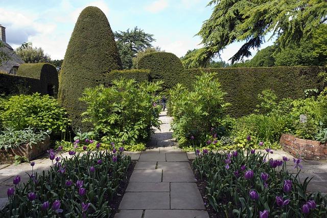 kamenná dlažba v zahradě