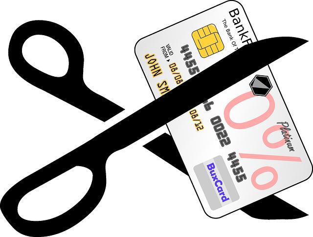 stříhání kreditky