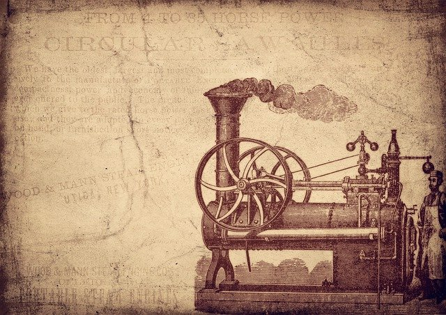 historický parní stroj